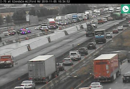 """Northbound I-75 near Glendale-Milford will likely be closed for """"several hours"""" due to a car crash, according to the Ohio Department of Transportation."""