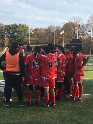 The Rahway boys soccer team