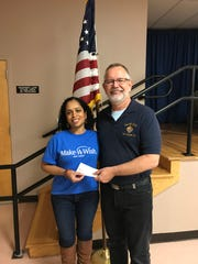 South Plainfield Knights of Columbus, Council #6203 Grand Knight Joe Wilkowski presented Selvui Vasudevan a representative from the Middlesex County Make A Wish Foundation with a check for $6,500.