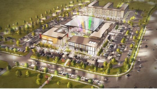 A rendering of the proposed Quarter entertainment district in Waukee.