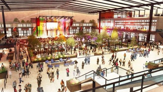 A rendering of the concert venue at the proposed Quarter entertainment district in Waukee.