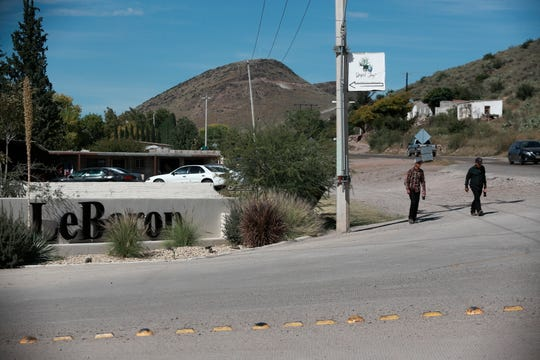 A sign announces the entry to Colonia LeBaron, one of many locations where the extended LeBaron family lives in the Galeana municipality of Chihuahua state, Mexico, Tuesday, Nov. 5, 2019.