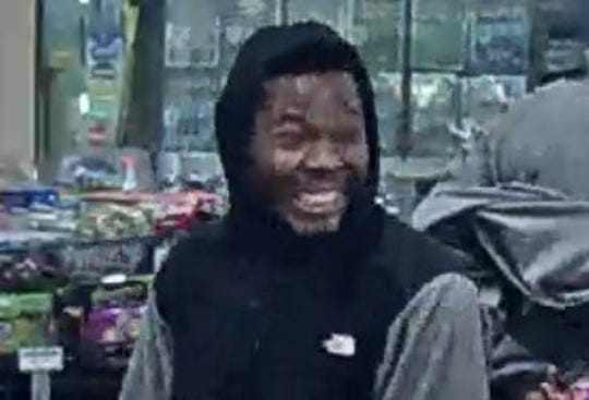 Detroit police are asking the public to help find this man who allegedly shot and killed another man at a gas station on Halloween night.