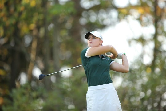 Sarah Burnham, a Michigan State alum, is on the LPGA Tour.