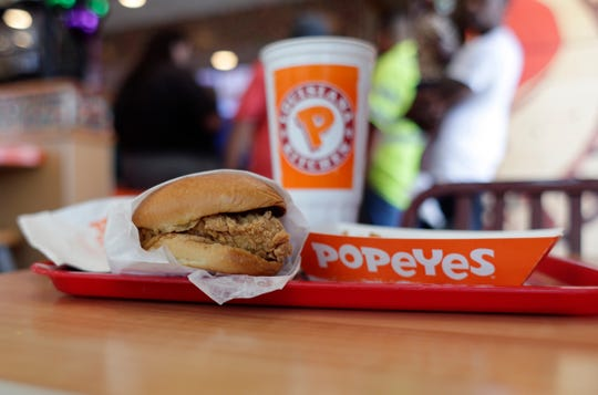 Popeyes resumed selling its chicken sandwich on Sunday.