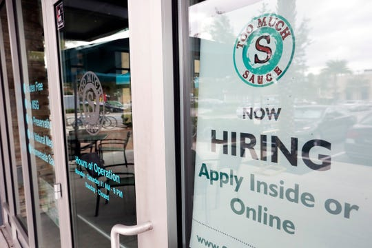 The Labor Department said Tuesday that the number of available jobs fell to 7 million, from 7.3 million in August. Job openings peaked at 7.6 million in November and have slowly declined since.