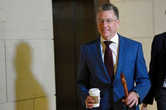 In this Oct. 16, 2019 file photo, Kurt Volker, President Donald Trump's former special envoy to Ukraine, arrives on Capitol Hill in Washington.