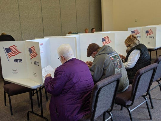 Voters in Ballville Township cast ballots on a township levy that will help fund road paving projects.