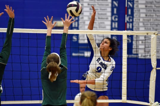 St. Joseph's defeated North Central to advance to its ninth straight high school volleyball state championship match.