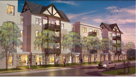 A rendering from Kimley Horn and LRK of the proposed Dockside development along Holiday Ave. The project's proposed site at 894 Tiger Blvd. abuts the busy U.S. 123 highway and Lake Hartwell.