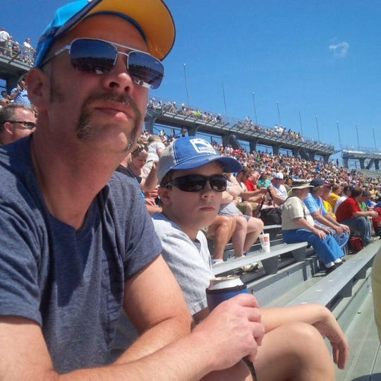 Jason Shelley and his son, Henry, travel the U.S. attending IndyCar races.