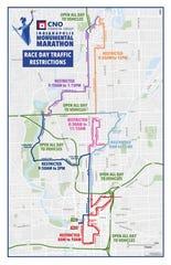 Monumental Marathon race day traffic restrictions.