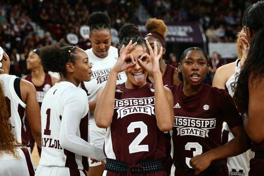 Mississippi State junior guard Andra-Ezpinoza-Hunter (2) is much more confident this year than she was last year during her first season in the program.