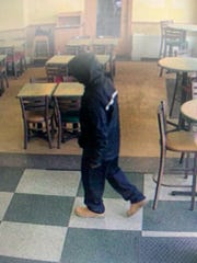 An unidentified black male took an undetermined amount of money from the Subway sandwich shop in Downtown Jackson, Tenn. on Nov. 5, 2019 after telling the cashier he was armed.