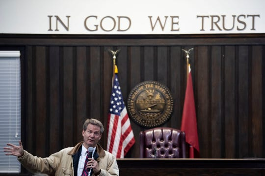 U.S. Rep. Tim Burchett holds a town hall at the Claiborne County Courthouse on Monday, November 4, 2019.