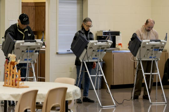 Voters cast their ballots at Federated Church, Tuesday, Nov. 5, 2019 in West Lafayette.