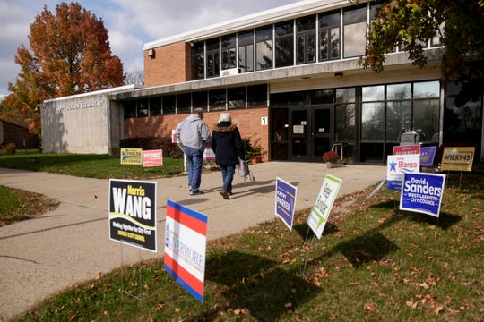 Voters walk into Happy Hollow Elementary, a polling location, Tuesday, Nov. 5, 2019 in West Lafayette.