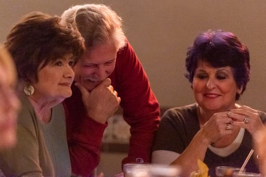 Brenda Carson, Tommy Rich and Ann Taylor, members of Lafayette High School's class of 1967, catch up as they meet for lunch at La Fonda restaurant in Lafayette, LA.  Friday, Nov. 1, 2019.