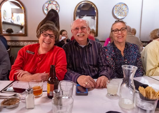 Debi and Jay Smith and classmate Karen Bradford catch up with fellow members of Lafayette High School's class of 1967 at La Fonda restaurant in Lafayette, LA.  Friday, Nov. 1, 2019.