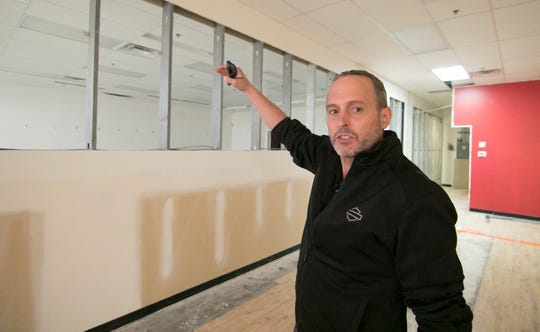 Hatorando Sushi and Bar co-owner Randall Palermo, shown Tuesday, Nov. 5, 2019, hopes to open the Hartland Township sports-themed sushi restaurant by spring.