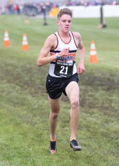 Jack Spamer of Brighton ran 14:48.1 for the fastest cross country time ever in Livingston County.