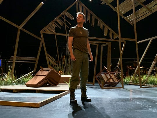 Gregory Gerbrandt plays Colonel Thompson when he returns from Vietnam in Kentucky Opera's Glory Denied.