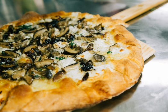 """""""Forager Pizza"""" on the menu at Walker's Exchange."""