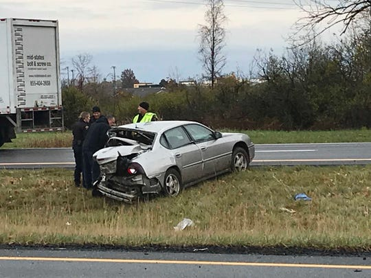 One person is dead on U.S. 30 west of Lexington-Springmill Road Tuesday morning, according to the Richland County coroner's office.