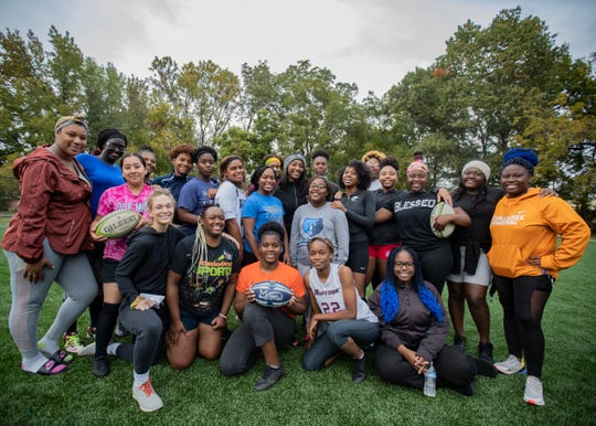 Freedom Prep's girls' rugby team at David Carnes Park Tuesday Oct. 29, 2019
