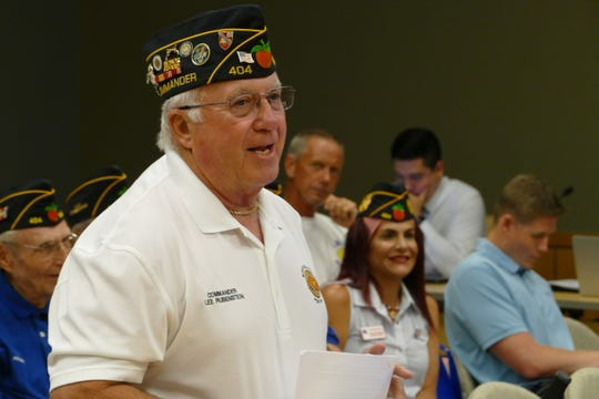 Marco Island will be the only Florida city to host the Vietnam traveling memorial wall, according to Lee Rubenstein, local commander of the American Legion Post. In the picture, Rubenstein speaks to council on Nov. 4.