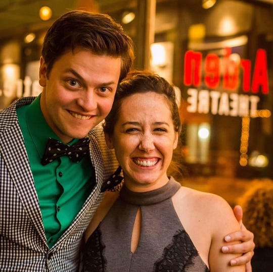 "Actors Michael Doherty and Alex Keiper will have a destination wedding in Milwaukee while they're performing in the Milwaukee Repertory Theater production of ""The Nerd."""