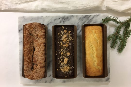 Assorted quick breads at Curtis and Cake in Fort Atkinson.