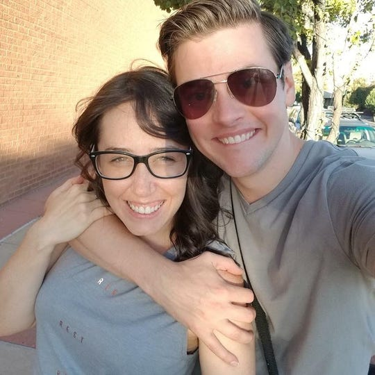 "Actors Alex Keiper and Michael Doherty will have a destination wedding in Milwaukee while they're performing in the Milwaukee Repertory Theater production of ""The Nerd."""