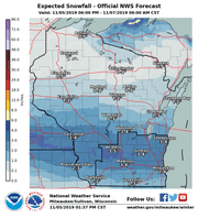 Snow is expected Wednesday across much of Wisconsin.