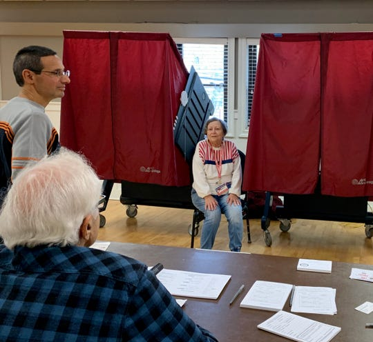 Volunteers at the White Meadow Lake polling station in Rockaway Township say they've seen a steady stream of voters in 2019.