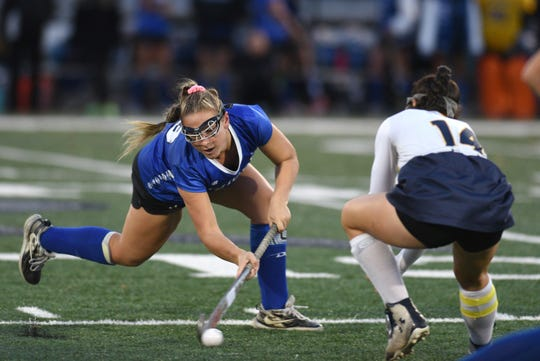 Shore Regional HS defeated Pequannock HS 7-3 in the NJSIAA Group I semifinal on November 5, 2019 in Clark. Lily Santi #13 takes a shot.