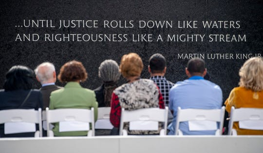 During the Civil Rights Memorial 30th Anniversary Day of Remembrance in Montgomery, Ala., on Tuesday November 5, 2019.
