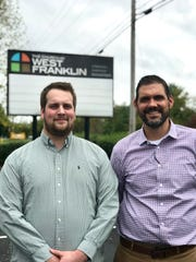 The Church at West Franklin will open its doors as a second homeless shelter location in Williamson County as temperatures dip below freezing this week. (Left) Josh Lynn, director of outreach ministries and Matt Pearson,campus and teaching pastor, are preparing for up to 15 guests per night this week at the church.