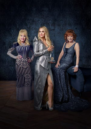 """The 53rd Annual CMA Awards,"" hosted by Carrie Underwood with special guest hosts Reba McEntire and Dolly Parton, broadcasts live from Bridgestone Arena in Nashville Wednesday, Nov. 13 at 8/7c on the ABC Television Network."