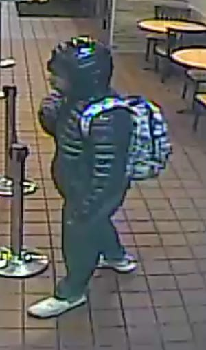Police released this photo of a person who committed an armed robbery at a North Nashville restaurant Nov. 4, 2019.