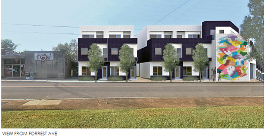 Designs for a residential complex planned for 1012 Main St. in East Nashville were approved Tuesday.