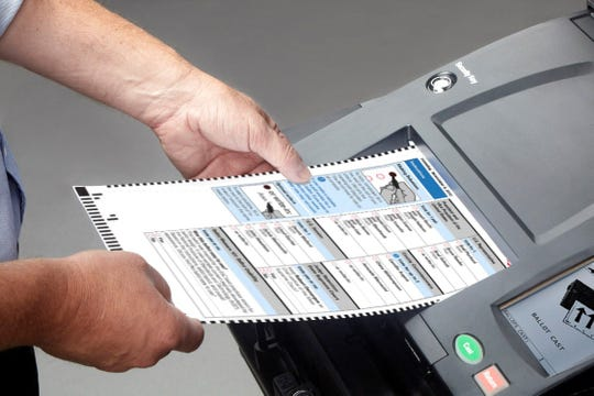 Montclair voters got to test-drive a voting machine this Election Day that scans a paper ballot that voters filled in with a pen or pencil.  November 5, 2019