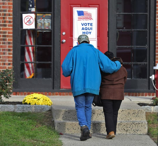 The Morristown Firehouse on Speedwell Avenue serve voters on Tuesday as their place to vote in District 3 Ward 2 in the Morris County seat.