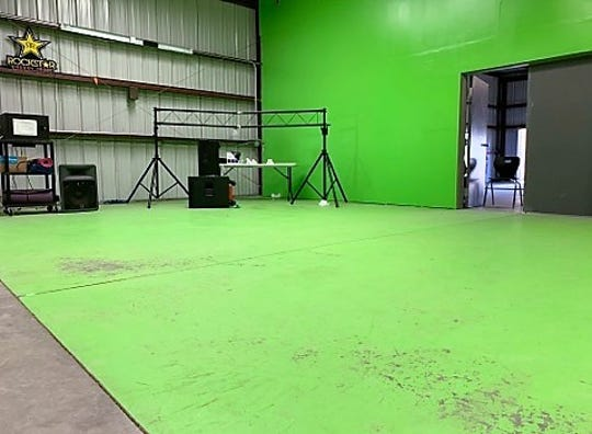 A green screen studio at La Academia Dolores Huerta charter middle school is among the technologies used in its new creative media courses. Monday, Nov. 4, 2019.