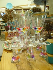 Prism glasses will add a festive note to a holiday table.