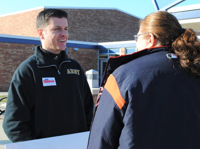 Livonia Councilman Rob Donovic also serves in the U.S. Army Reserves.