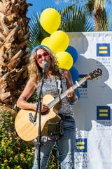 LGBTQ entertainer Jennifer Corday serenaded the crowd.