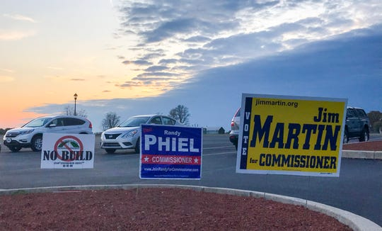 The sun sets on the The Southeastern Adams Volunteer Emergency Services (S.A.V.E.S.) building, 5865 Hanover Rd, where voters cast their ballots on Tuesday, Nov. 5, 2019.