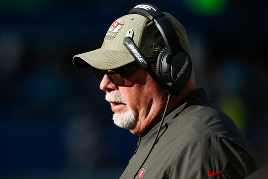 Tampa Bay Buccaneers head coach Bruce Arians used to coach the Arizona Cardinals. He'll face his former team for the first time on Sunday.