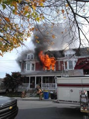Crews responded to a fire in the 500 block of South Albermarle Street about 10 a.m. Tuesday, Nov. 5. Photo courtesy of Southern PA Incident Network.